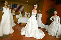 4/7/05-LOS ANGELES-Over 2,000 wedding gowns will be for sale at rock bottom prices this Saturday at the Goodwill north of downtown. The brand new dresses were a donation and will sell from $49 to $399. A large crowd is expected. David Sprague/Daily News