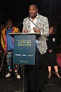 Bridgehampton, New York, NY-July 15:  Visual Artist Sanford Biggers (Honoree) attends The 2017 RUSH Philanthropic's  Art For Life held at Fairview Farms on July 15, 2017 in Bridgehampton, New York. (Photo by Terrence Jennings/terrencejennings.com)