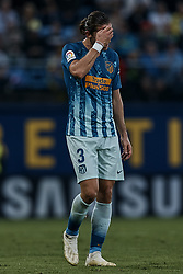 October 20, 2018 - Vila-Real, Castellon, Spain - Filipe Luis Kasmirski of Atletico de Madrid reacts during the La Liga match between Villarreal CF and Atletico de Madrid at Estadio de la Ceramica on October 20, 2018 in Vila-real, Spain  (Credit Image: © David Aliaga/NurPhoto via ZUMA Press)