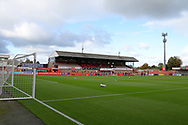 A general view of the ground before the EFL Sky Bet League 2 match between Cheltenham Town and Crawley Town at Jonny Rocks Stadium, Cheltenham, England on 10 October 2020.