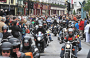 3,000 bikers from all over the world take part in the annual Ireland Bike Fest parade through the streets of Killarney town on Sunday.The parade featured exotic, powerful and custom bikes and travelled a 5 mile route around the town watched by thousands of tourists and locals who crammed the town centre for a closeup view of the machines.   This is the 5th year of Ireland Bike Fest which is supported by Harley-Davidson® Europe, Gleneagle Hotel, Fáilte Ireland, Destination Killarney and Killarney Town Council.<br /> Picture by Don MacMonagle