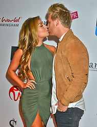 Abigail Clarke and Rob Davies seen at the VIP red carpet screening of Fifty Shades of Grey at the CineWorld Birmingham. EXPA Pictures © 2015, PhotoCredit: EXPA/ Photoshot/ Jules Annan<br /> <br /> *****ATTENTION - for AUT, SLO, CRO, SRB, BIH, MAZ only*****