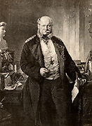 Wilhelm I (William I - 1797-1888) seventh king of Prussia and first emperor of Germany from 1861. Engraving from 'The English Illustrated Magazine' (London, 1888).