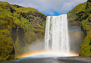 Skogafoss waterfall in the Southern Region of Iceland