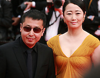 Jia Zhangke and Zhao Tao at The Search gala screening red carpet at the 67th Cannes Film Festival France. Tuesday 20th May 2014 in Cannes Film Festival, France.