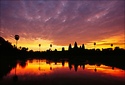 Dedicated to the Hindu god Vishnu, the twelfth-century temple at Angkor Wat in Cambodia was the seat of power for the Khmer King Suryavaraman II and testifies to the early reach into Southeast Asia of Indian beliefs and architecture.  © Steve Raymer / National Geographic Creative