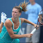 Camila Giorgi, Italy, in action during the Connecticut Open at the Connecticut Tennis Center at Yale, New Haven, Connecticut, USA. 17th August 2014. Photo Tim Clayton