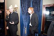 SONIA FRIEDMAN; IAN RICKSON; MACKENZIE CROOKE, Press night for Jerusalem. Apollo Theatre. Shaftesbury ave. After party at the Cafe de Paris. London. 10 February 2010