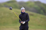 Fionn Hickey (Muskerry) the 18th tee during Round 3 of the Ulster Boys Championship at Donegal Golf Club, Murvagh, Donegal, Co Donegal on Friday 26th April 2019.<br /> Picture:  Thos Caffrey / www.golffile.ie