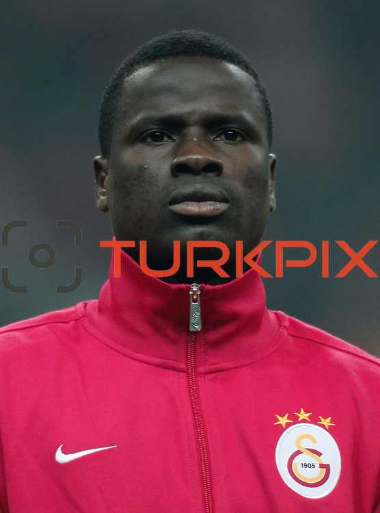 Galatasaray's Emmanuel Eboue during their Turkish Super League soccer match Galatasaray between IBBSpor at the TT Arena at Seyrantepe in Istanbul Turkey on Tuesday, 03 January 2012. Photo by TURKPIX