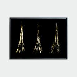 La Tour est Folle • Original photographic work by Antoine Duhamel • Direct print on brushed brass.