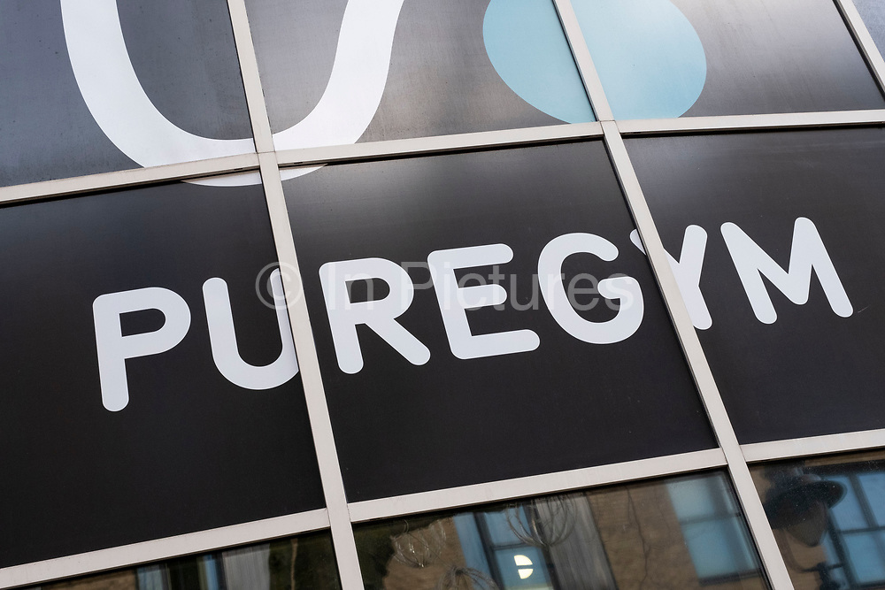 Sign for the gym brand Puregym on 24th March 2021 in Birmingham, United Kingdom.