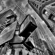 With the Empire State Building in the background, and other scenes of Midtown Manhattan seen from my wide angle lens on at street level.