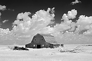 Old barn and clouds<br />