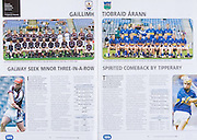 All Ireland Senior Hurling Championship Final,.03.09.2006, 09.03.2006, 3rd September 2006,.Senior Kilkenny 1-16, Cork 1-13,.Minor Tipperary 2-18, Galway 2-7.3092006AISHCF,.Tipperary, J Ryan, M Cahill, P Maher, B Maher, E Hogan, T Stapleton, J O'Keeffe, J McLoughney, G Ryan, S Hennessy, T McGrath, N Bergin, P Bourke, T Dunne, T Dalton, Subs, M Gleeson for Bergin, S Callinan for Dunne,. Galway, J Skehill, J Ryan, M McMahon, A Moylan, D Burke, K. Keane, S Quinn, E Forde, G Lally, A Harte, M Corcoran, L Tully, S Cohen, J Canning, G Hennelly, Subs , E Concannon for Corcoran, K Killilea for Lally, G Burke for Harte, N Lynch for Hennelly,