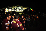 May 25th 2011: Patrons make their way to Suncorp Stadium from Caxton Street before game 1 of the 2011 State of Origin series at Suncorp Stadium in Brisbane, Australia on May 25, 2011. Photo by Matt Roberts/mattrIMAGES.com.au / QRL