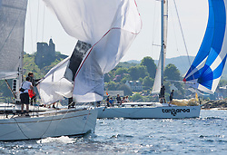 Silvers Marine Scottish Series 2017<br /> Tarbert Loch Fyne - Sailing<br /> <br /> GBR1121L, Tangaroa, Eliz & Des Balmforth, CCC, Pronavia 38<br /> <br /> Credit Marc Turner / PFM