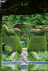 Yew topiary birds at Hidcote Manor