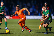 Luton Town forward Kazenga LuaLua on the ball during the EFL Sky Bet League 1 match between Luton Town and Coventry City at Kenilworth Road, Luton, England on 24 February 2019.