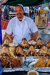 Food stall in the Jemaa El Fna, Marrakech, Morocco, North Africa<br /> <br /> (c) Andrew Wilson | Edinburgh Elite media