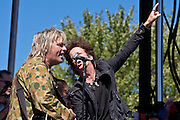 Willie Nile & Mike Peters at the 2010 Union County Music Festival, Clark, NJ.