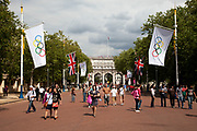 People come to soak up the atmosphere at Horse Guards Parade and the Mall, which was home to many events during the London 2012 Olympics Games.
