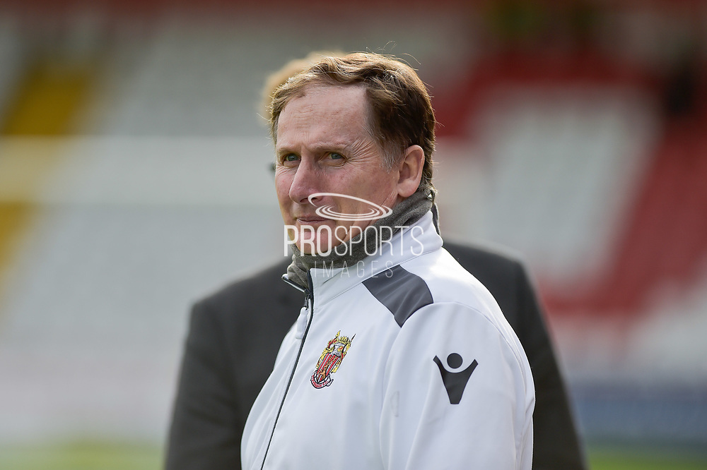 Stevenage Managerial Advisor, Glenn Roeder during the EFL Sky Bet League 2 match between Stevenage and Forest Green Rovers at the Lamex Stadium, Stevenage, England on 21 October 2017. Photo by Adam Rivers.