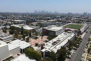 A general view of Los Angeles City College amid the global coronavirus COVID-19 pandemic, Saturday, June 27, 2020, in Los Angeles.