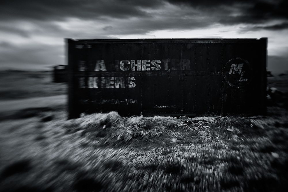 Shipping container, Dungeness, UK