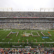 The Marching 100 band performs during half-time of the Florida Classic NCAA football game between the FAMU Rattlers and the Bethune Cookman Wildcats at the Florida Citrus bowl on Saturday, November 22, 2014 in Orlando, Florida. (AP Photo/Alex Menendez)