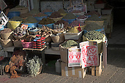 Traditional medicinal products on street stall, Marrakech, Morocco