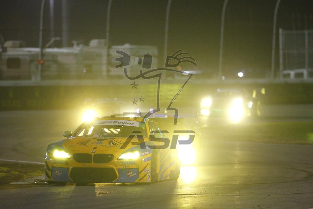 Daytona Beach, FL - Dec 31, 2015:  The IMSA WeatherTech Sportscar Championship teams take to the track for a practice session for the Rolex 24 at Daytona at Daytona International Speedway in Daytona Beach, FL.