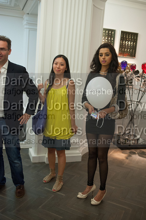 CHEER REN; MONA ABBAS, Vogue's Fashion night out special opening of the Halcyon Gallery.  New Bond St. London. 6 December 2012.
