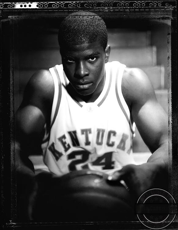 Kentucky forward Kelenna Azubuike shot on Polaroid 55 film . Mark Cornelison/Staff