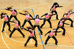 Dancers at finals of Slovenian volleyball cup between OK ACH Volley and OK Salonit Anhovo Kanal, on December 27, 2008, in Nova Gorica, Slovenia. ACH Volley won 3:2.(Photo by Vid Ponikvar / SportIda).