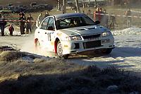 Motorsport, Rally Solør 2000. Sverre Isaksson fra Sverige på SS2 med sin Evo VI