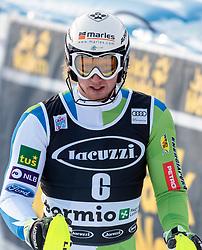 29.12.2017, Stelvio, Bormio, ITA, FIS Weltcup, Ski Alpin, alpine Kombination, Slalom, Herren, im Bild Klemen Kosi (SLO) // Klemen Kosi of Slovenia during the Slalom competition for the men's Alpine combination of FIS Ski Alpine World Cup at the Stelvio course, Bormio, Italy on 2017/12/29. EXPA Pictures © 2017, PhotoCredit: EXPA/ Johann Groder