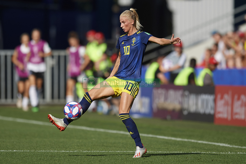 June 29, 2019 - Rennes, France - Sofia Jakobsson (Montpellier HSC) of Sweden controls the ball during the 2019 FIFA Women's World Cup France Quarter Final match between Germany and Sweden at Roazhon Park on June 29, 2019 in Rennes, France. (Credit Image: © Jose Breton/NurPhoto via ZUMA Press)