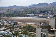 Israel, Eilat airport. Arkia plane landing