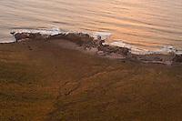 Basalt formation rock in the north part of Lanzarote. Lanzarote Island, Canary Islands, Spain.