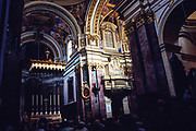 Interior of the cathedral church of Saint Paul, Mdina, Malta 1998