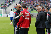 Remy VERCOUTRE / Gerald BATICLE - 09.05.2015 -  Caen / Lyon  - 36eme journee de Ligue 1<br />