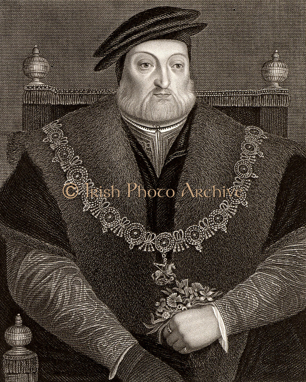 Charles Brandon, 1st Duke of Suffolk (1484-1545) English soldier and statesman. Married Mary Tudor, sister of Henry VIII. Grandfather of Lady Jane Grey. Engraving.
