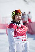 Yuka Fujimori, Japan, during the womens snowboard big air final at the Pyeongchang 2018 Winter Olympics on 22nd February 2018, at the Alpensia Ski Jumping Centre in Pyeongchang-gun, South Korea