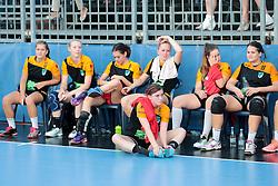 Sad players of Zagorje after loss during handball match between RK Zagorje and RK Krim Mercator of Super Cup 2016, on August 27, 2016 in SRC Marina, Portoroz / Portorose, Slovenia. Photo by Matic Klansek Velej / Sportida