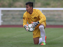 May 31, 2018 - London, United Kingdom - Kalsang Topgyal of Tibet.during Conifa Paddy Power World Football Cup 2018  Group B match between  Abkhazia  against Tibet at Queen Elizabeth II Stadium (Enfield Town FC), London, on 31 May 2018  (Credit Image: © Kieran Galvin/NurPhoto via ZUMA Press)