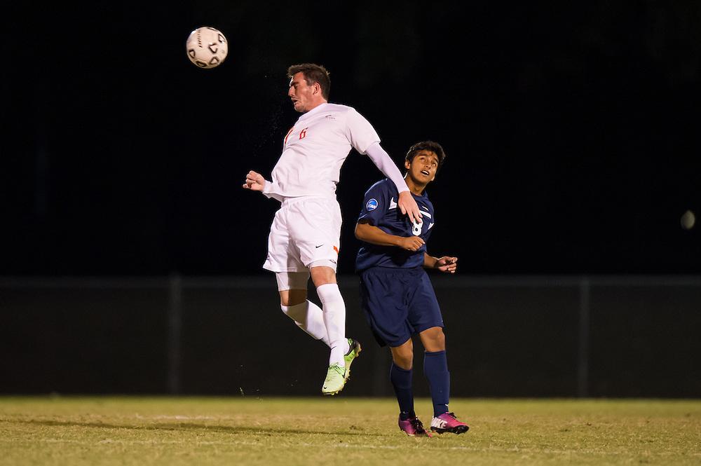 Oct 23, 2013; Morrow, GA, USA; Clayton State men's soccer player Adam Reakes against Georgia Southwestern at CSU. CSU won 3-2. Photo by Kevin Liles/kevindliles.com