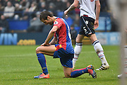 Crystal Palace Midfielder,  Mathieu Flamini (4) misses during the The FA Cup 3rd round match between Bolton Wanderers and Crystal Palace at the Macron Stadium, Bolton, England on 7 January 2017. Photo by Mark Pollitt.