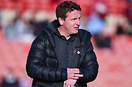 Daniel Stendel of Barnsley (Manager) before the EFL Sky Bet League 1 match between Barnsley and Wycombe Wanderers at Oakwell, Barnsley, England on 16 February 2019.