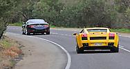 2005 Lamborghini Gallardo (Giallo Midas) .2008 Aston Martin DB9 S-Pack (Mariana Blue) .Corporate Drive Day with Octane Events & The Supercar Club.Mornington Pennisula, Victoria .6th-7th of August 2009 .(C) Joel Strickland Photographics